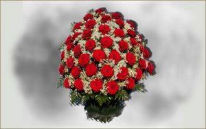 Корзина с живыми цветами 1